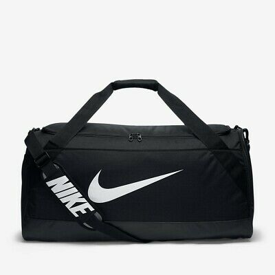 New Nike Brasilia Large Duffel Sport Gym Bag 81L Black & Grey