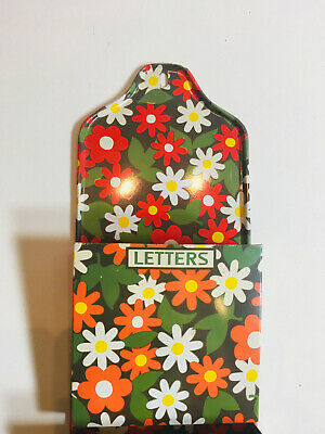 Rare FAB Daisy Vintage 1960s 1970s Psychedelic Bill Letter Sorter Wall Hanging