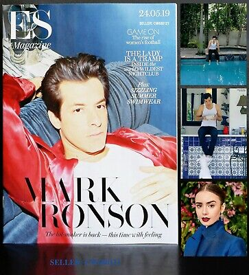 Mark Ronson Late Night Feelings Shallow Lily Collins Es Magazine May 2019 New