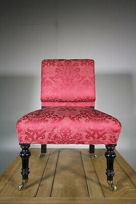 19th Century Quality Antique Upholstered Side Chair