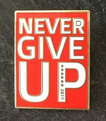 Never Give Up Liverpool Winners 2019 Football Enamel Pin Badge - White