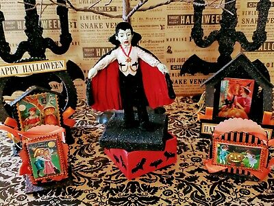 ☆Bethany Lowe ☆Halloween ☆Rare☆Retire☆Count Dracula Boy Figurine☆Collectable☆