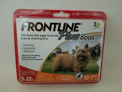 Merial Frontline Plus Flea & Tick Control For Small Dogs 5-22 lbs 3 Month EPA