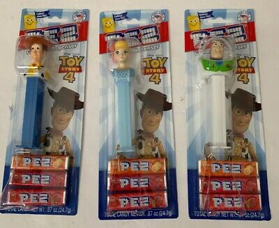 PEZ Disney Pixar Woody Bo Buzz Candy & Dispenser TOY STORY 4 New Factory Sealed