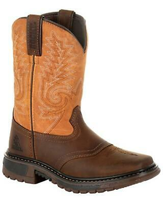 581d0988386 DAN POST YOUTH Boys' Little River Western Boot - Square Toe ...