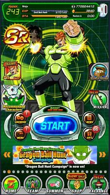 [Instant Delivery] Dokkan Battle Global farmed account 2950 Stones - Android