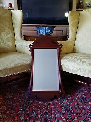 Williamsburg Style Mahogany Large Chippendale Mirror #140 Virginia Metalcrafters