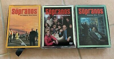 The Sopranos 3rd 4th 6th Seasons gangster mafia DVD video