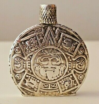 VINTAGE STERLING SILVER  PERFUME BOTTLE  DABBER 10 gr  Mexican Aztec