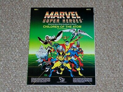1986 TSR Marvel Super Heroes Children of the Atom Guidebook Complete MA1 6872