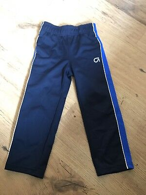 Gap Fit Boys Blue Pull On Running Trousers Jogging Bottoms Size Xs Age 4-5 Years