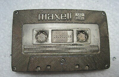 Maxell UD-XL Cassette Belt Buckle Indiana Metal Craft ==Pewter