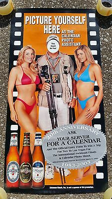 Hooters 20th Anniversary Swimsuit Calendar Girls Photo Shoot  Las Vegas Poster