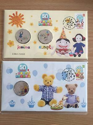 2016 50c 50 Years of Play School PNC Set Jemina Humpty Big and Little Ted