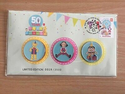 2016 50 Years Of Play School 3 Medallion Set Pnc Low Number 19