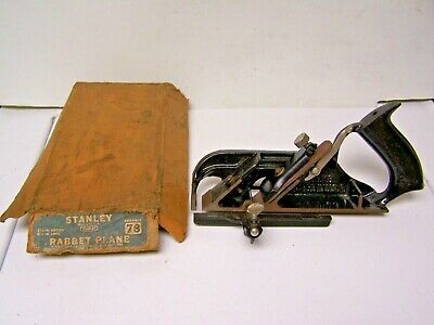 Vintage Stanley No.78 Woodworking Rabbet Plane with Fence & Guide / ORIG BOX