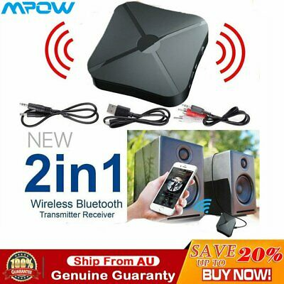 MPOW BLUETOOTH V5 0 Transmitter 3 5mm AUX Audio Adapter for TV aptX