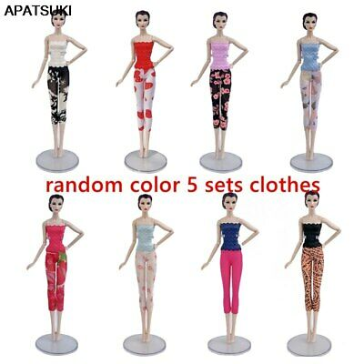 "5sets/lot Fashion Doll Clothes For 11.5"" Doll Lace Top & Shorts Legging Outfits"