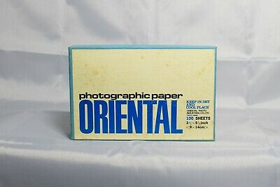 Vintage Oriental Photographic Paper, Center F, 3.5 x 5.5 100 Sheets, Sealed