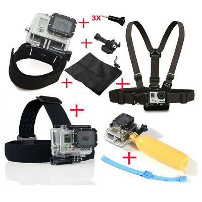 Head Chest Mount Floating Monopod Pole Accessories For GoPro 4/3+ Xiaoyi Useful
