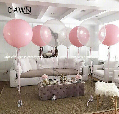Pink 5 Pcs 36 inch Large Latex Pearlised Birthday Wedding Party Baloons