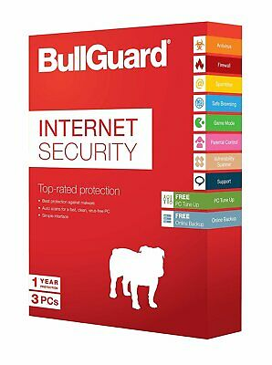 Bullguard Internet Security Antivirus Suite. Brand New Physical Card Is Sent