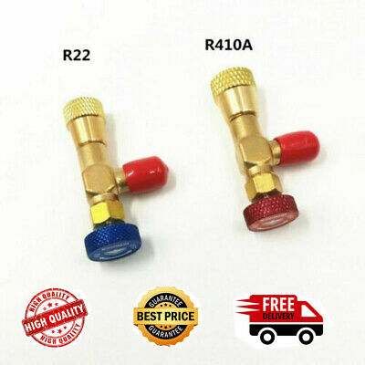 "2pcs Refrigeration Charging Adapter R22/R410A For 1/4 ""Safety Valve Service Kit"