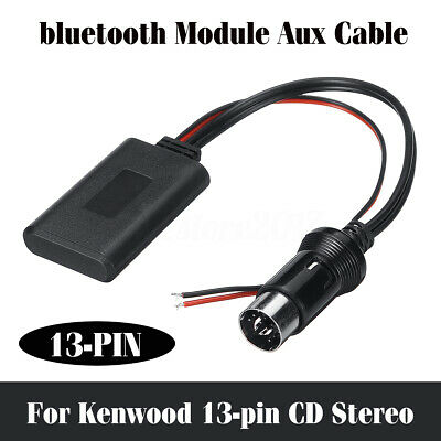 Car Bluetooth Wireless audio module Aux Cable iphonefor Kenwood 13-pin CD Raido