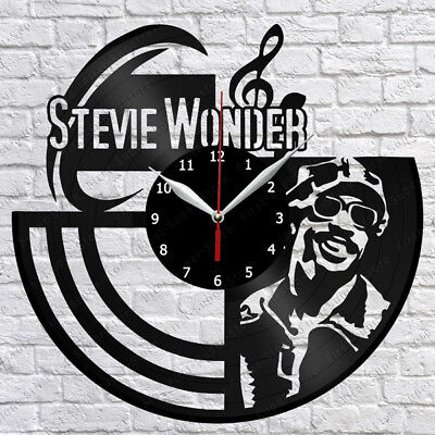 "Stevie Wonder Vinyl Record Wall Clock Fan Art Home Decor 12"" 30cm 1334"