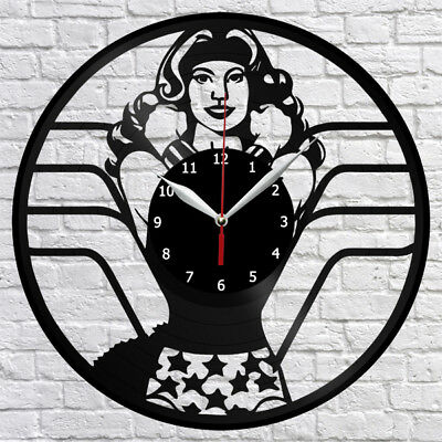 Wonder Woman Vinyl Record Wall Clock Decor Fan Art Original Gift Handmade 3706