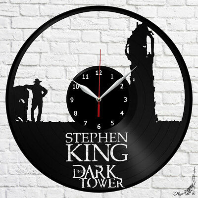 The Dark Tower Vinyl Record Wall Clock Original Gift Handmade 12'' 135