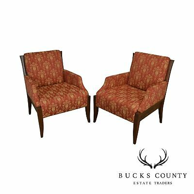 Trinity Furniture Pair Classic Modern Style Bergere Lounge Chairs