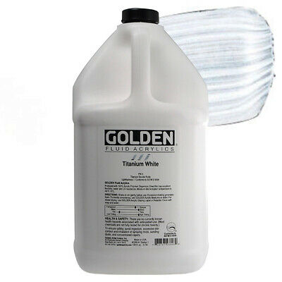 Golden Fluid Acrylic 1 Gallon - Titanium White