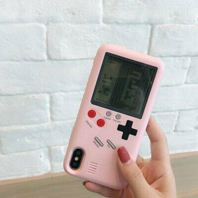 GAME BOY Phone Case Tetris For iPhone 6 6s 7 8 Plus X Hard Rubber Cover Player