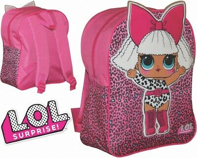 Official LOL Surprise Dolls Rocker Childrens Backpack School PE Bag Rucksack