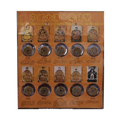 20Pcs Ten Emperors Coins Chinese Copper Coin Old Dynasty Antique Currency