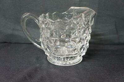 "Fostoria American Crystal Clear Water Pitcher w Ice Lip 6"" Tall"
