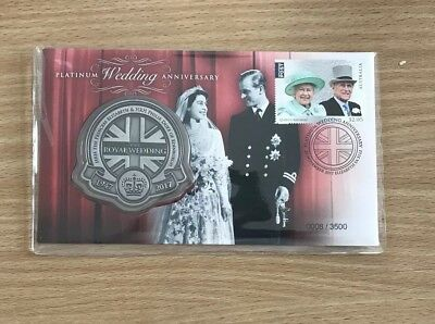 2017 Platinum Royal Wedding 70th Anniversary PNC Medallion Cover Low Number 8