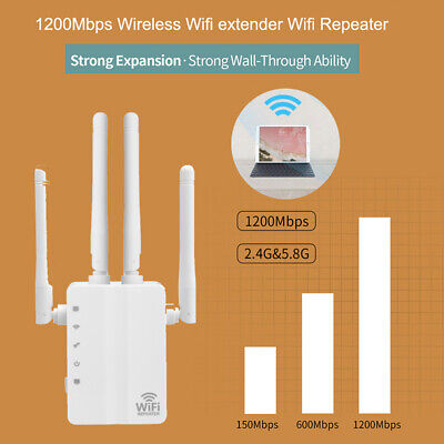 1200Mbps WiFi Repeater Extender Range Signal Dual Band Amplifier 802.11 Outdoor