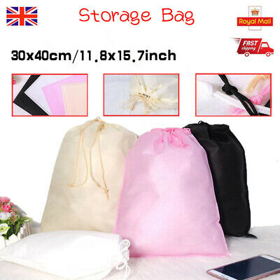 30×40cm Travel Dustproof Boot Shoes Storage Drawstring Bag Organizer Case Carry