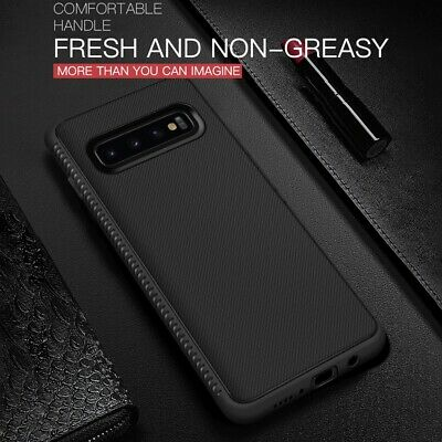 Samsung Galaxy S10 Plus S9 S8 S7 Soft Back Case Matte Hybrid Rubber Rugged Cover