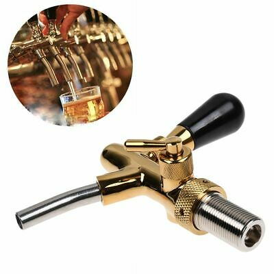 Long Shank Beer Draft Tap Faucet w/ Flow Control fit Kegerator Home Brew Gold