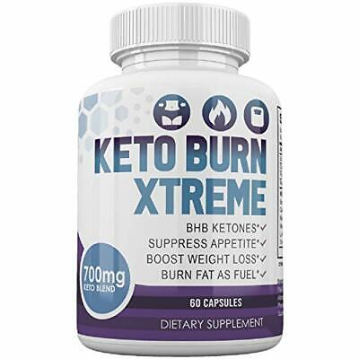 Keto Burn Xtreme Diet Pill Weight Loss 700mg Keto Blend 30 Day Supply 60 Capsule