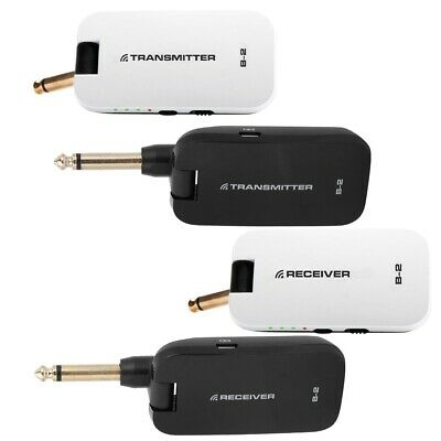 Wireless Guitar System 2.4GHz Rechargeable Audio Receiver Transmitter Long Range