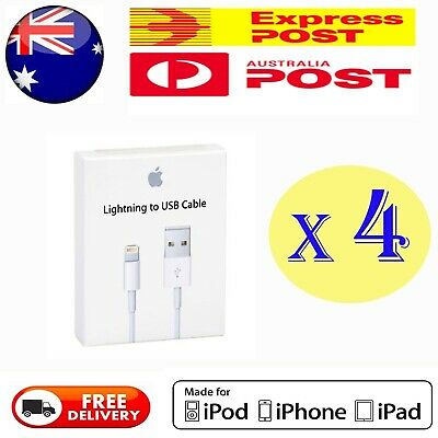 4X Apple Lightning Cable Charger Compatible Genuine iPhone 5 S 6 7 Plus 8 X iPad