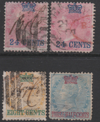 Straits Settlements 1867 Collection Used & Mint Mounted