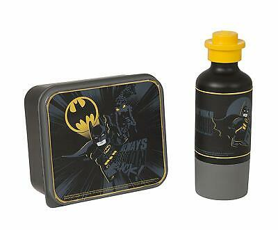 LEGO Batman Lunch Set, Lunch Box and Drinking Bottle - Black, 2-Piece
