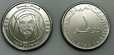 "Emiratos Arabes  2018  1 Dirham  "" Year Of Zayed ""  Ni  Unc"