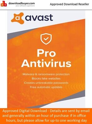 Avast Pro AntiVirus 2019 - 1 PC 1 Year -  (Approved Digital Download)
