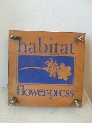 Vtg 70s Habitat Flower Press crafts coutry cottage Conran